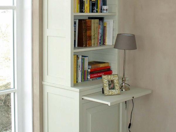 Set van 2 smalle boekenkasten