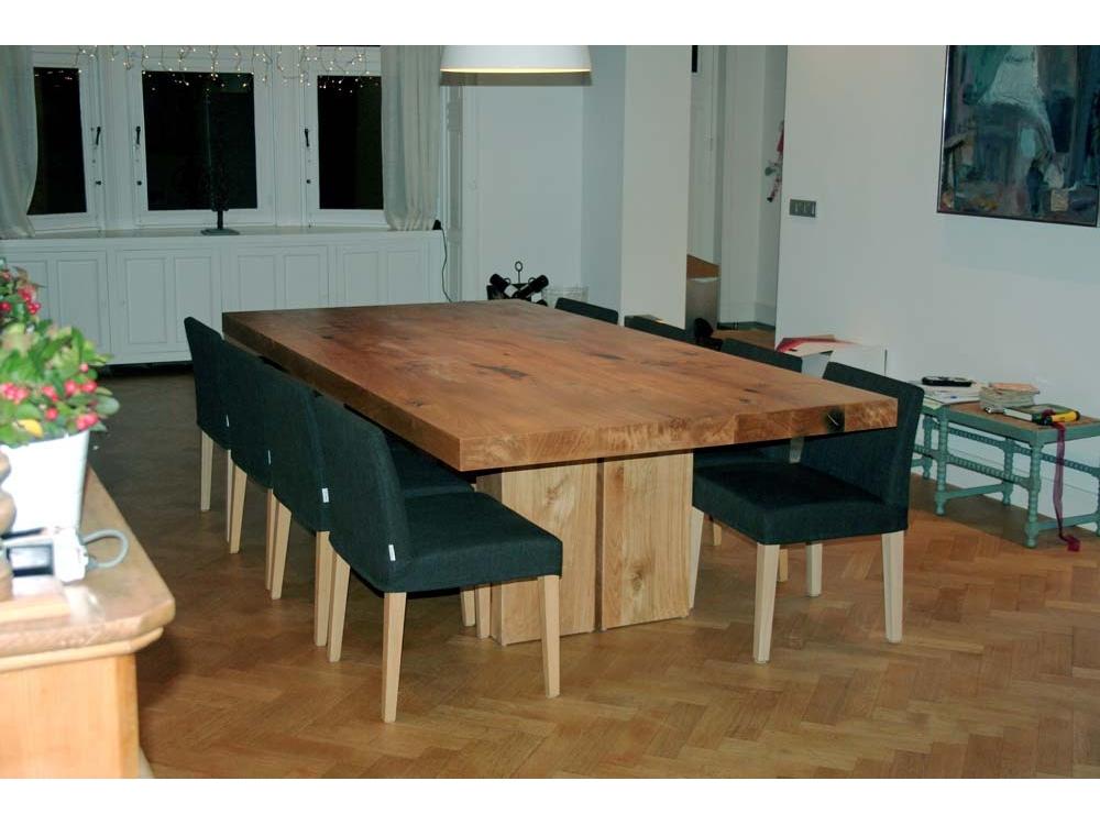 Grote brede Eiken tafel