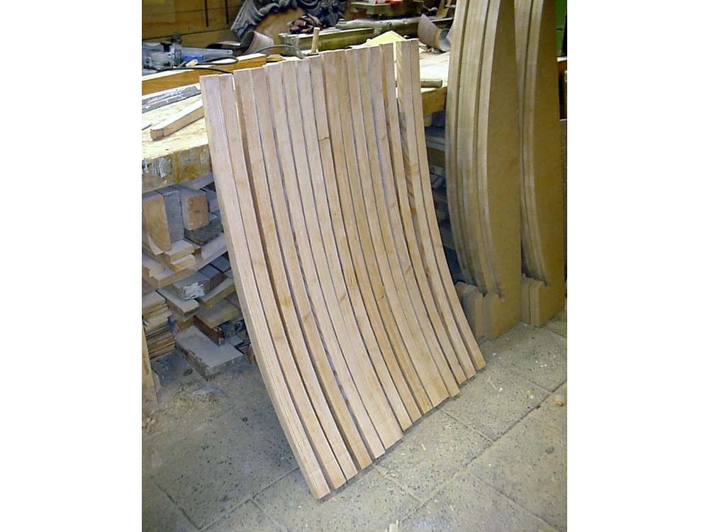 Buigen van hout met stoom