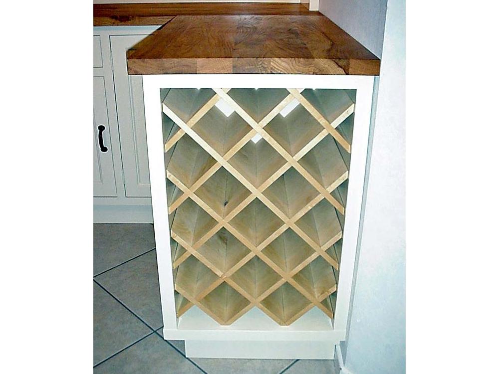 Keukenkastje met wijnrek