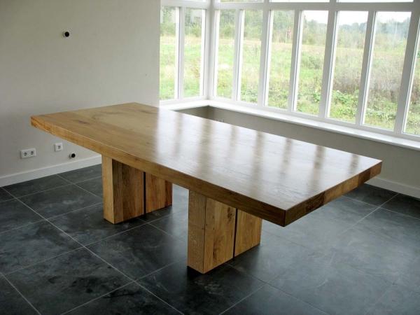 Grote Eiken tafel Twins